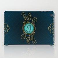monogram iPad Cases featuring Monogram J by Britta Glodde