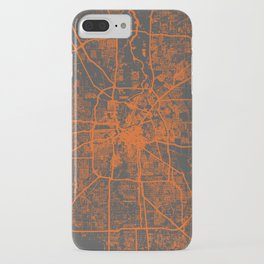 Houston map orange iPhone Case