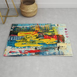 Unspecified City in Distress Rug