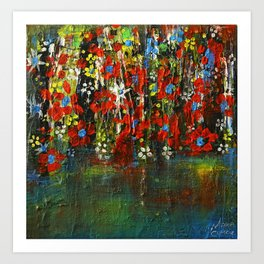 Blue flowers dreaming Art Print