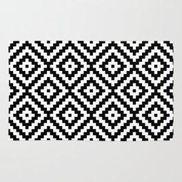 Aztec Block Symbol Ptn BW II Rug