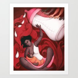 Breastfeeding and African-American Women Art Print