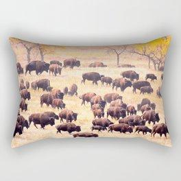 Buffalo Roundup at Custer State Park Rectangular Pillow