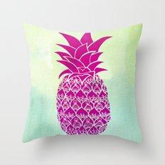 Pink Pineapple Throw Pillow