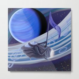 Through Space and Sound Metal Print