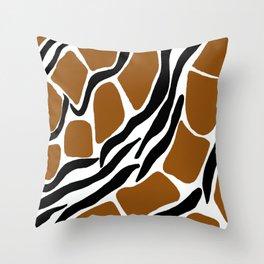 Safari Zebra and Giraffe Throw Pillow