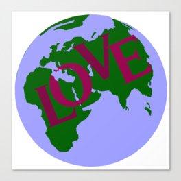 World of Love Canvas Print