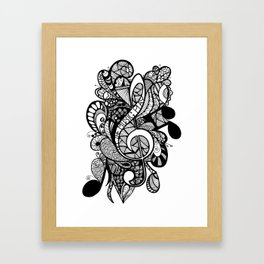 Let the music play! Framed Art Print