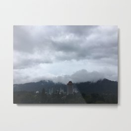 Beautiful clouds over the Malaysian city Metal Print