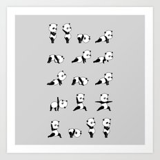 Yoga Bear - Panda Art Print