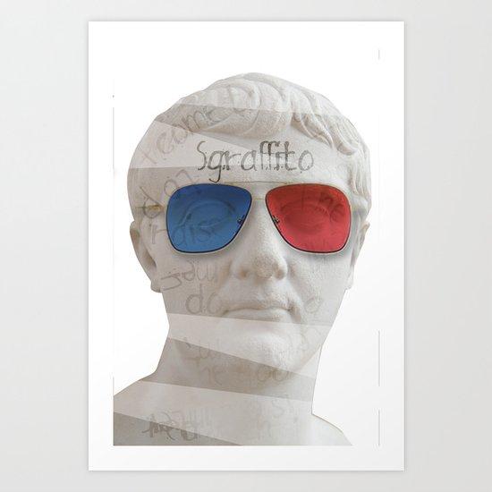 scratch 3D Art Print