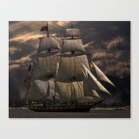 sailing Canvas Prints featuring Sailing by Kristiana Art Prints