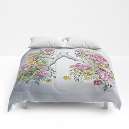 Floral Anatomy Lungs Comforters