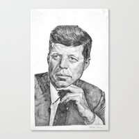 jfk Canvas Prints featuring JFK by Monifa Charles