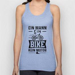 Ein Mann Ein Bike Kein Motor Unisex Tank Top
