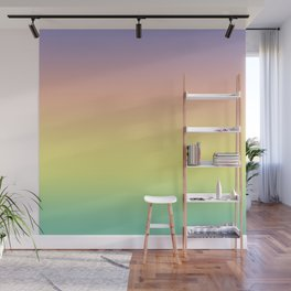Pastel Colorful Pattern Abstract Rainbow Multi Colored Texture Wall Mural