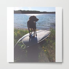 on a boat Metal Print