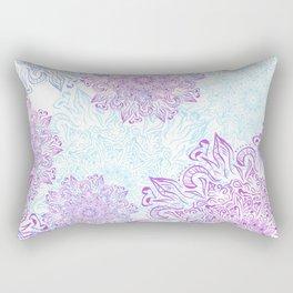 Mandala snowflake pattern. Rectangular Pillow