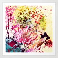 aelwen Art Prints featuring waterlily by clemm