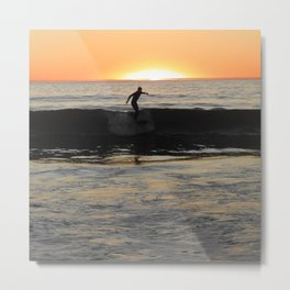 Manhattan Surfer Metal Print