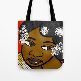 Pretty With White Flowers Tote Bag