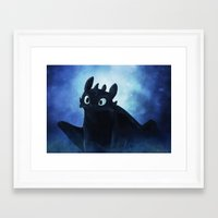 toothless Framed Art Prints featuring Toothless by Liancary