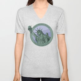 Nasty Woman Our First Lady Statue Of Liberty Unisex V-Neck