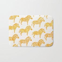 Zebras – Yellow Palette Bath Mat