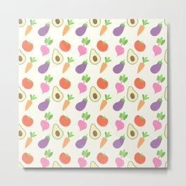 Mixed Vegetable Metal Print