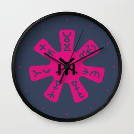 Rosette ~ Pliska Wall Clock