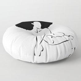 Nude in Black No. 3 Floor Pillow