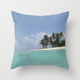 Castaway island Throw Pillow
