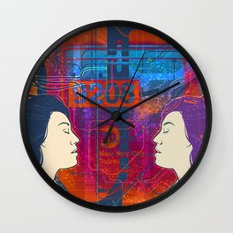 Immersed in New York Wall Clock
