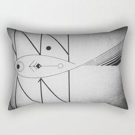 Turning Back Rectangular Pillow
