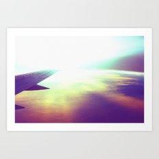 evening plane Art Print