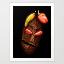 Copperhead mask_057 Art Print