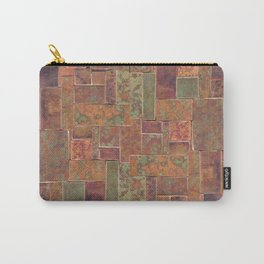 Red Patina Patchwork Carry-All Pouch