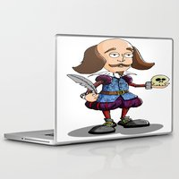 shakespeare Laptop & iPad Skins featuring William Shakespeare by Graziano Ventroni