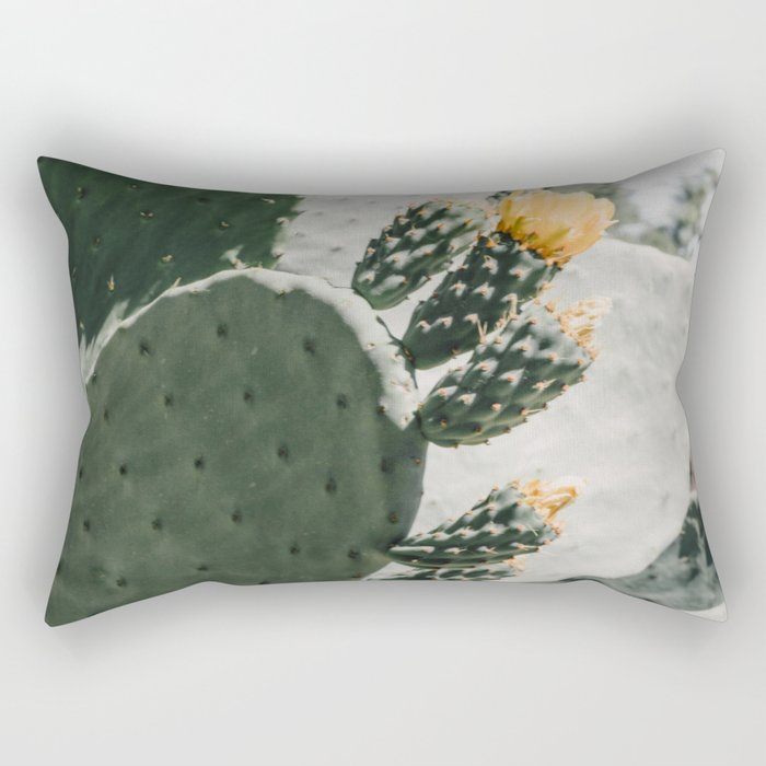 flowering cactus i Rectangular Pillow
