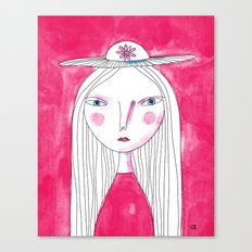 Hat Girl Canvas Print