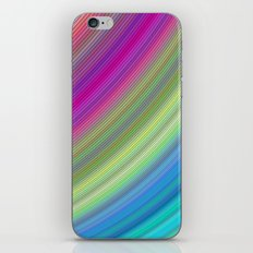 Curved colorful dream iPhone & iPod Skin