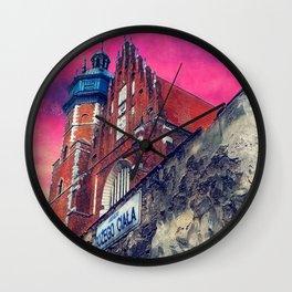 Cracow Kazimierz art Wall Clock