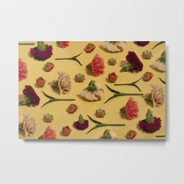 Flower flat lay  Metal Print