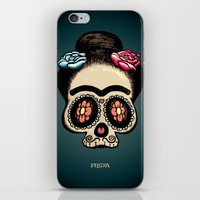 frida iPhone & iPod Skins featuring Frida by mangulica illustrations