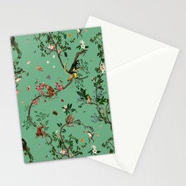 Monkey World Green Stationery Cards