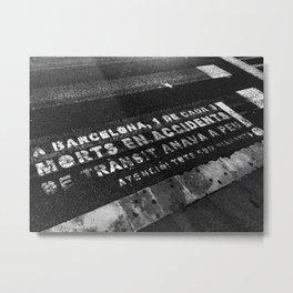 Barcelona Street Metal Print
