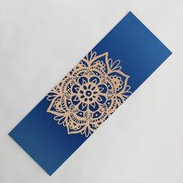 Blue and Gold Mandala Yoga Mat