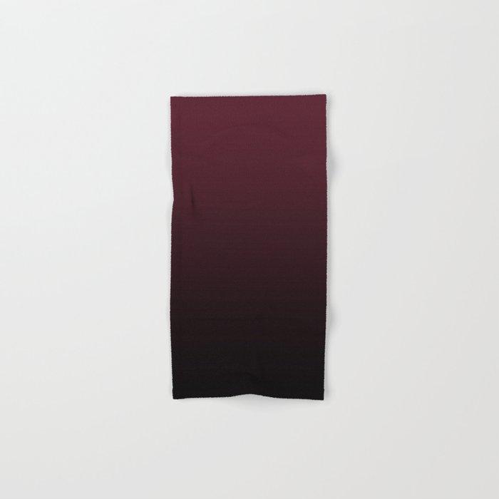 Burgundy Wine Ombre Gradient Hand & Bath Towel