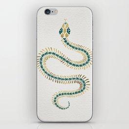 Snake Skeleton – Emerald & Gold iPhone Skin