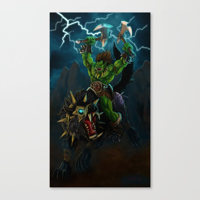 Blood and Thunder Canvas Print